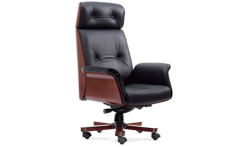 Imperial Executive Office Chair In Leather & Wood: Boss's ...