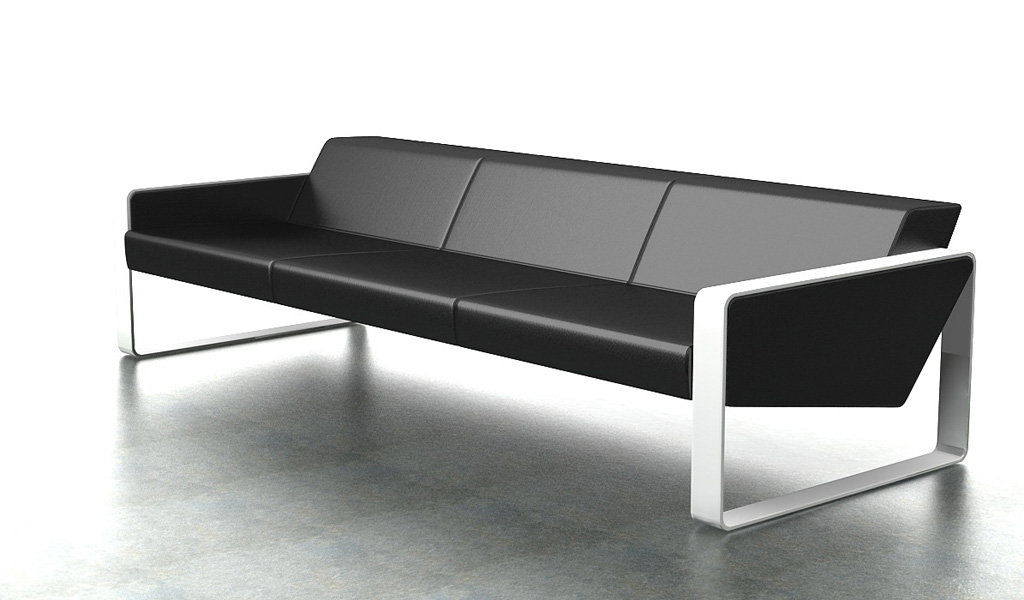 Contemporary Office Sofa In Leather 3 Seater Bosss Cabin : 1S 621 3 from www.bossescabin.com size 1024 x 600 jpeg 104kB