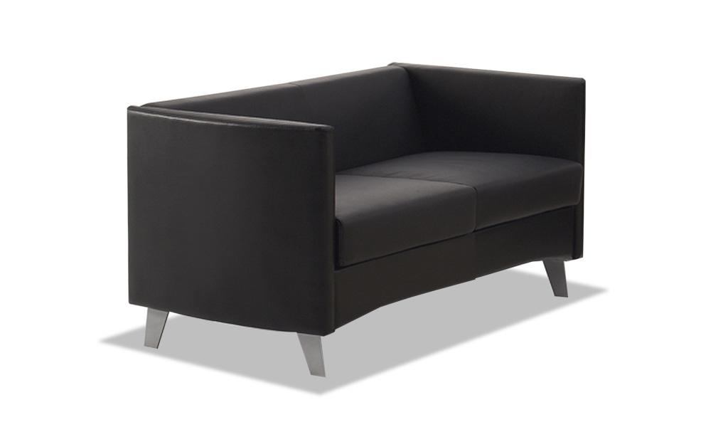 Buy Sleek Office Sofa In Pu Leather 2 Seater Boss S Cabin
