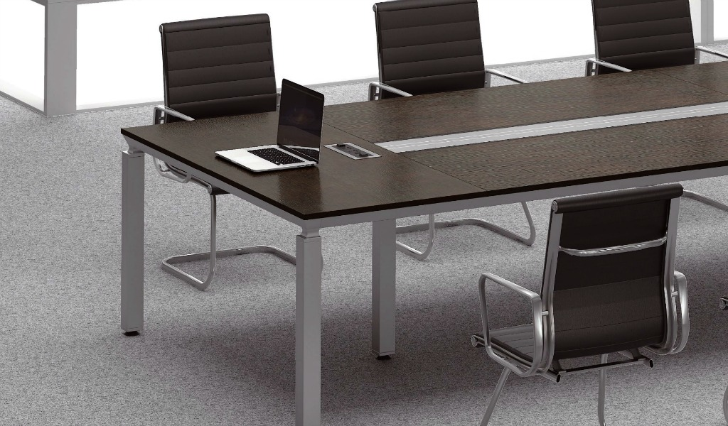 Easy 18 Seat Conference Table With Wire Management Boss S