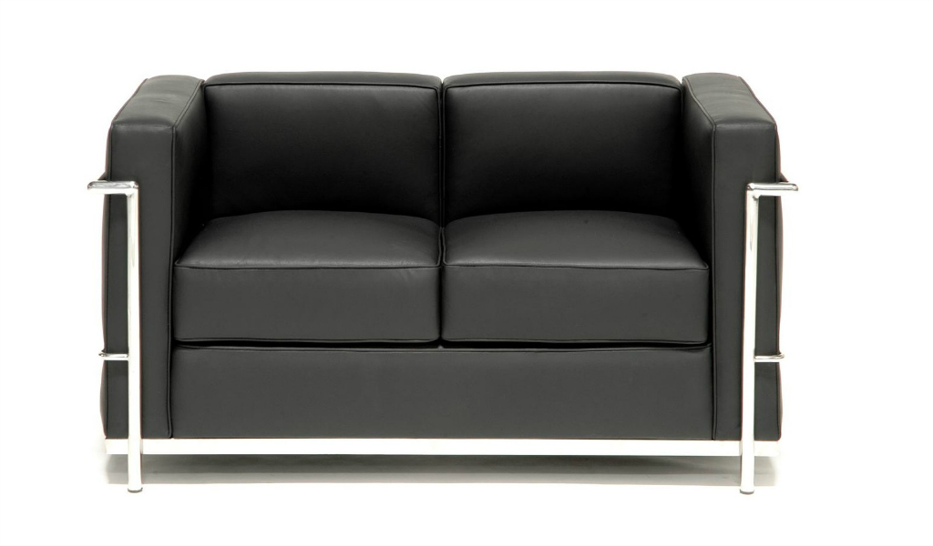 Core leather office sofa with steel frame 2 seater boss 39 s cabin Steel frame sofa