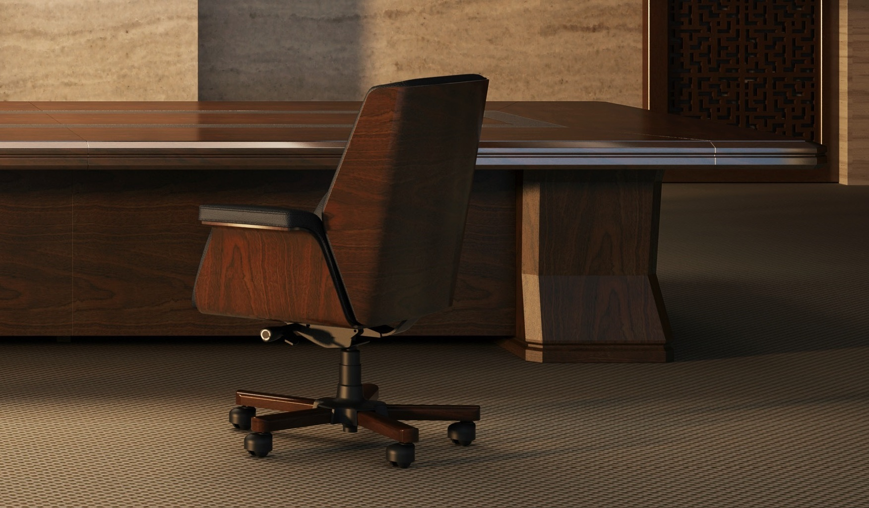 Wood Leather Office Chair Designs