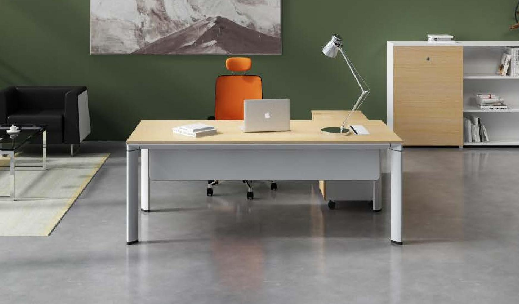 Contemporary office table with credenza boss 39 s cabin for Table design for office