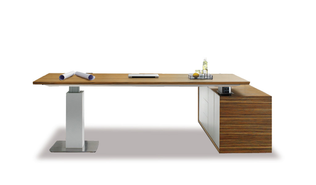 Modern Office Desk With Motorized Lift Function Bosss Cabin - Office table lift