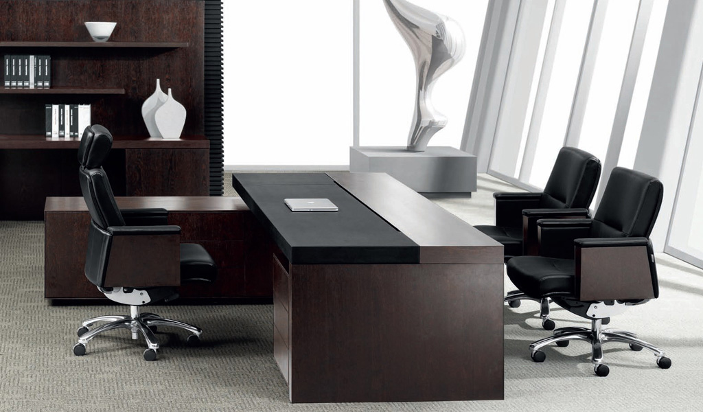 Best Leading Office Table In Leather Wood Bosss Cabin