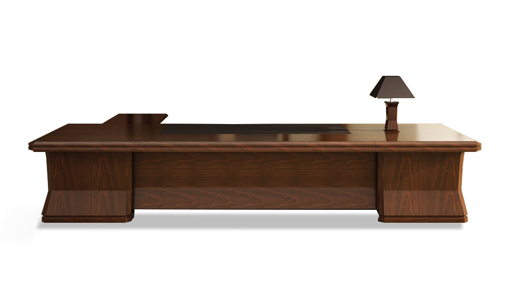 Large Tradional Office Table in Wood Bosss Cabin