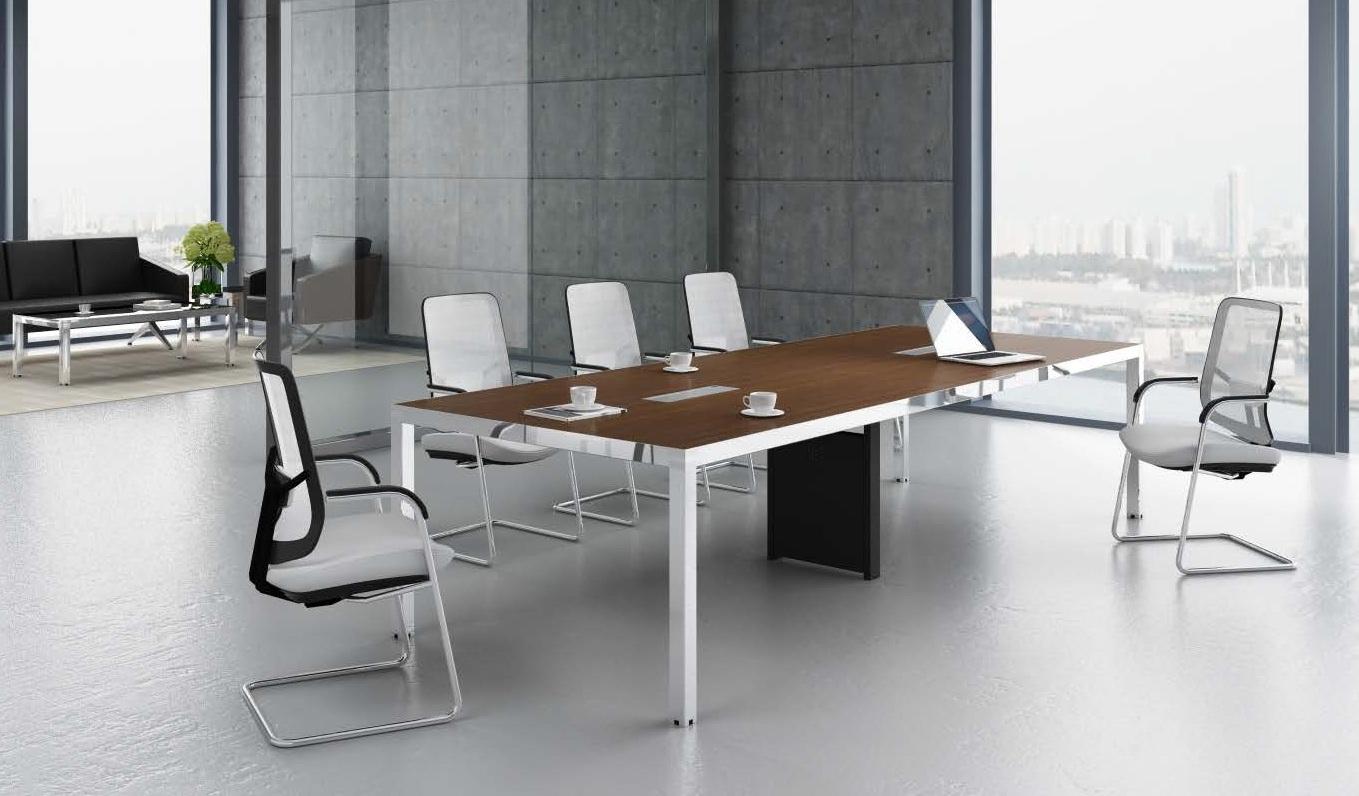39 Berlin 39 10 Seat Conference Table In Walnut Finish Boss