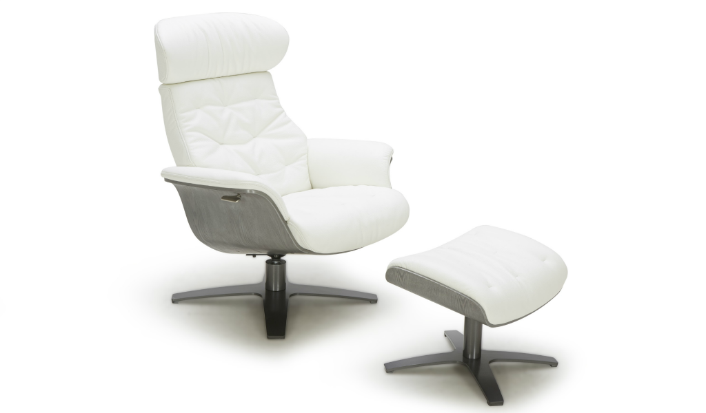 Stupendous White Leather Recliner Chair Evergreenethics Interior Chair Design Evergreenethicsorg