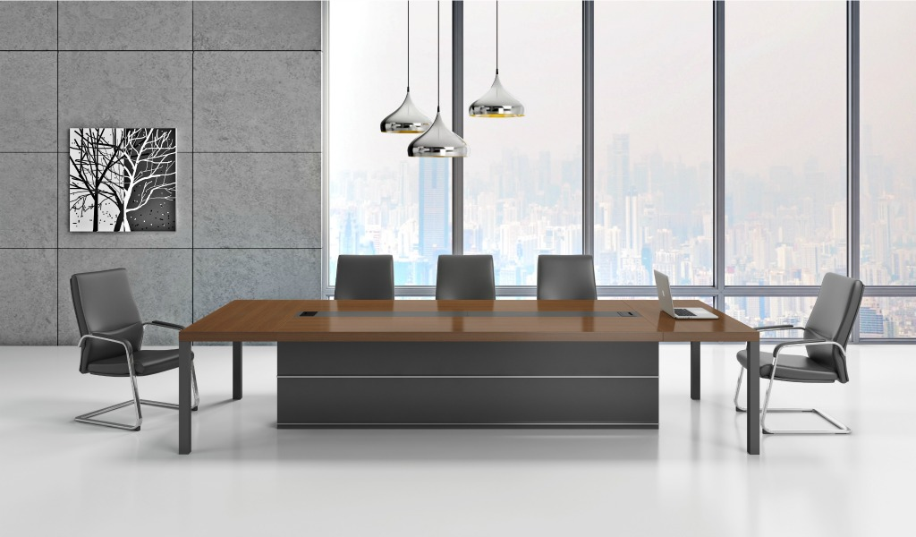 Marc 14 Seat Conference Table In Walnut Veneer Bosss
