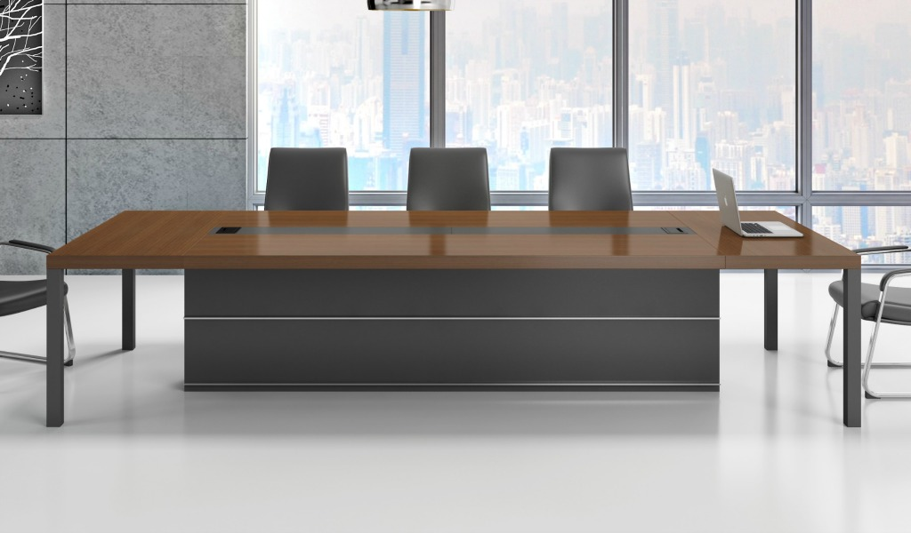 Marc 14 Seat Conference Table In Walnut Veneer Boss S