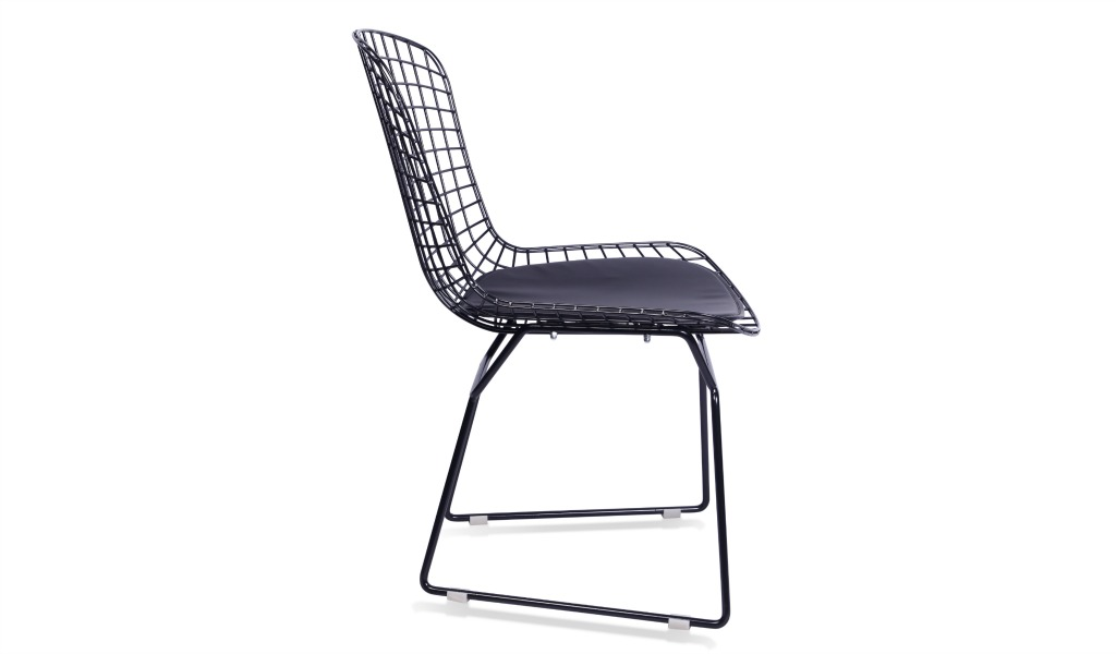 Eams Inspired Black Wire Cafeteria Chair Boss S Cabin