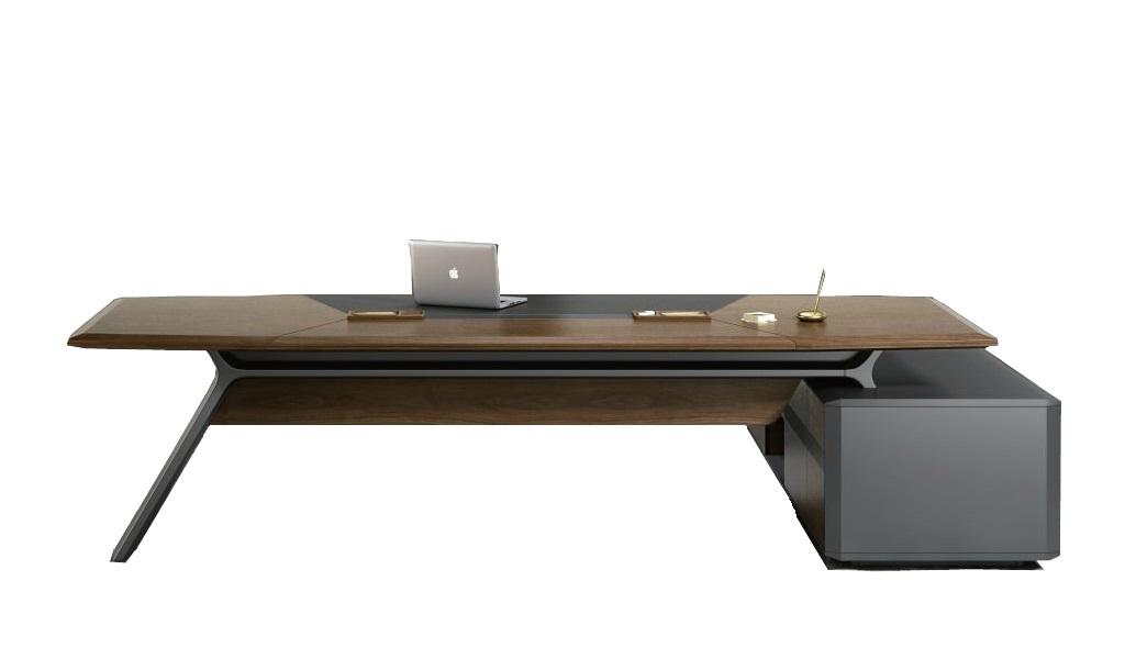 Large Aulenti Office Table In Rich Walnut Boss 39 S Cabin