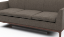 brown color fabric office sofa