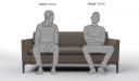 'Pluto' Three Seater Compact Sofa In Fabric