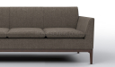 office sofa in brown fabric upholstery