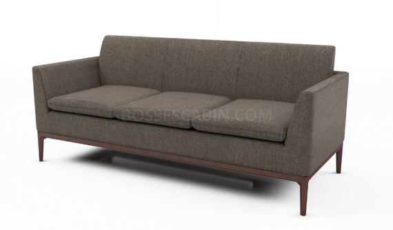 compact office sofa in fabric