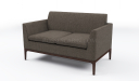 'Pluto' Two Seater Compact Office Sofa In Fabric