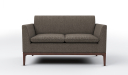 two seater office sofa in brown fabric