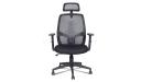 black high back chair with headrest