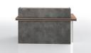 'Inspira' 6 Feet Reception Desk In Stone Gray Finish