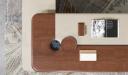 'Rodolfo' Italian Series Office Table In Walnut Veneer