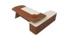 executive desk in walnut veneer and premium leather
