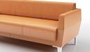 'Jane' Three Seater Sofa In Tan PU Leather