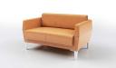 two seater sofa in tan leather