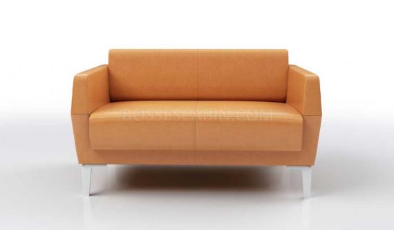 'Jane' Two Seater Sofa In Tan PU Leather