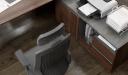 'Inspira' Walnut Office Desk With Side Cabinet