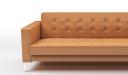 'Alpha' Three Seater Sofa In Tan PU Leather