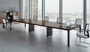 modern office with large meeting table