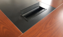 conference table with inbuilt wirebox