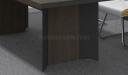 meeting table base in walnut veneer