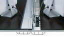 inbuilt wire management raceway on office workstation desktop
