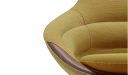 'D Series' Revolving Lounge Chair In Yellow Fabric