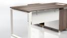 Linz 5 Feet Office Desk With Side Cabinet