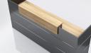 'Inspira Black' 8 Feet Reception Desk In Carbon Gray
