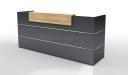Inspira Black 8 Feet Reception Desk