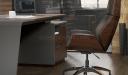 'Inspira' Office Desk In Walnut Laminate