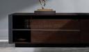 'Larry' 11 Ft Luxury Desk In Walnut Veneer & Leather