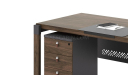 three drawer mobile pedestal with lock and wheels