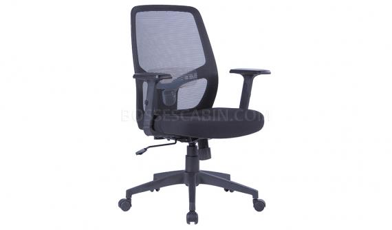 'Nova' Medium Back Chair With Adjustable Lumbar Support