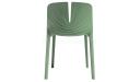 'Plis' Stackable Plastic Chair In Morandi Green
