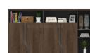 'Inspira' 7.5 Feet Width Wall Cabinet In Walnut