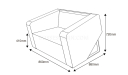 one seater office sofa shop drawing with dimensions