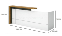 Recta Reception Table in White Laminate