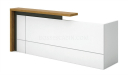 reception table in white laminate