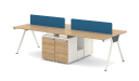 Modular workstation in linear configuration