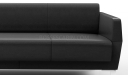 'Jane' Three Seater Sofa In Artificial Leather
